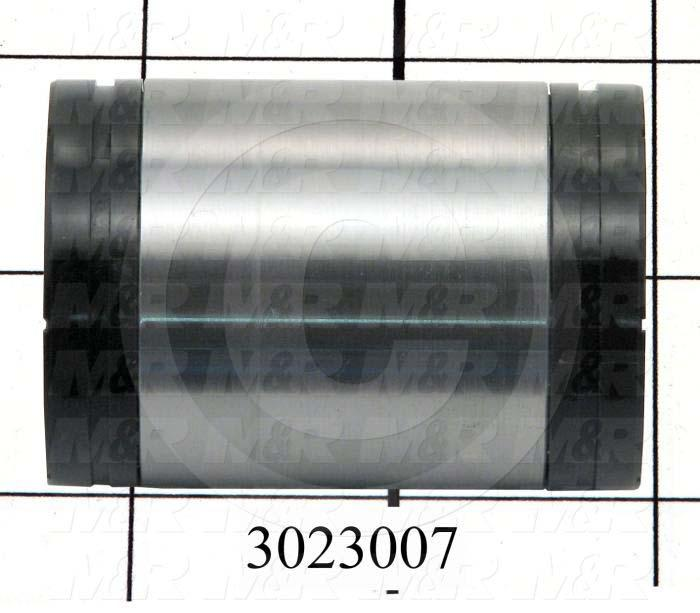 "Shaft Guide, Ball Bearing Closed, Steel Material, 1"" Shaft Dia., End Seals (Single), 1 9/16"" Bearing OD, 2 1/4"" Bearing Length"