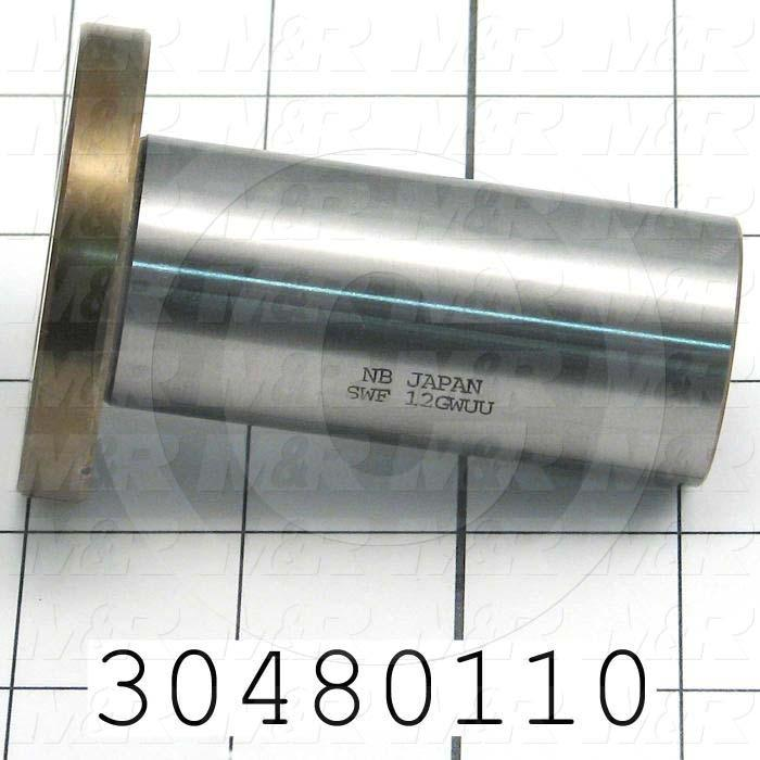 "Shaft Guide, Ball Bearing Closed, Steel Material, 3/4"" Shaft Dia., 2 3/16""Round Width of Block, 3.13"" Length of Block, End Seals (Single), 1 1/4"" Bearing OD, 3-1/8"" Bearing Length"