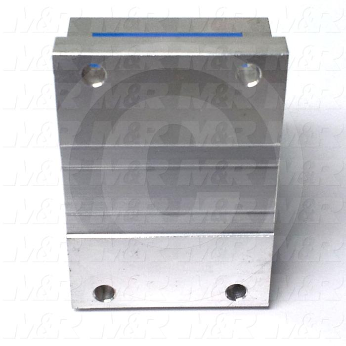 "Shaft Guide, Block w/ Ball Open Bearing, Aluminum Anodized Material, 3/4"" Shaft Dia., 2 3/4"" Width of Block, 1 7/8"" Length of Block, End Seals (Single)"