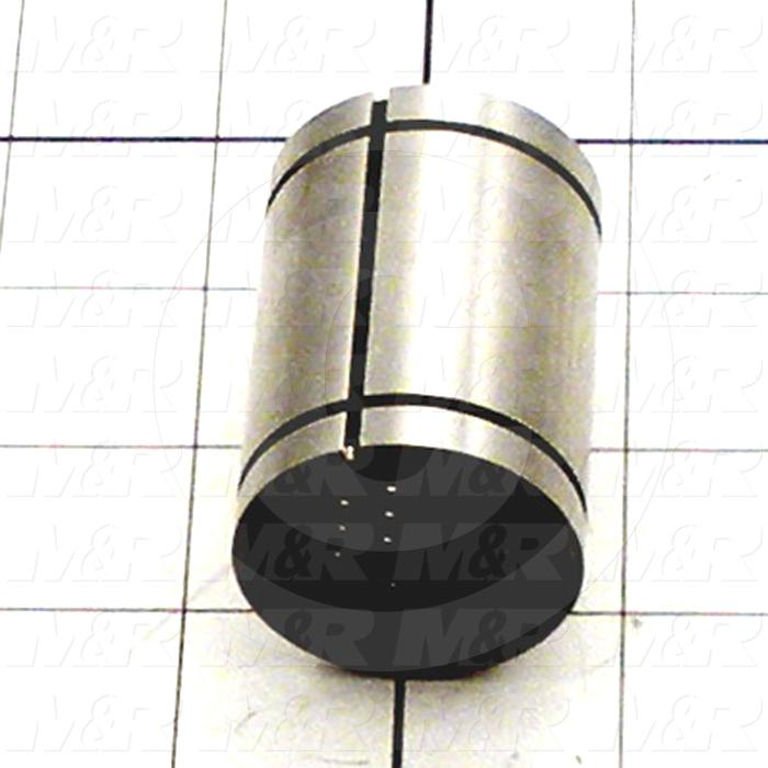 "Shaft Guide, Clearance Adjustable Ball Bearing, Steel Material, 1"" Shaft Dia., 1 9/16"" Bearing OD, 2 1/4"" Bearing Length"