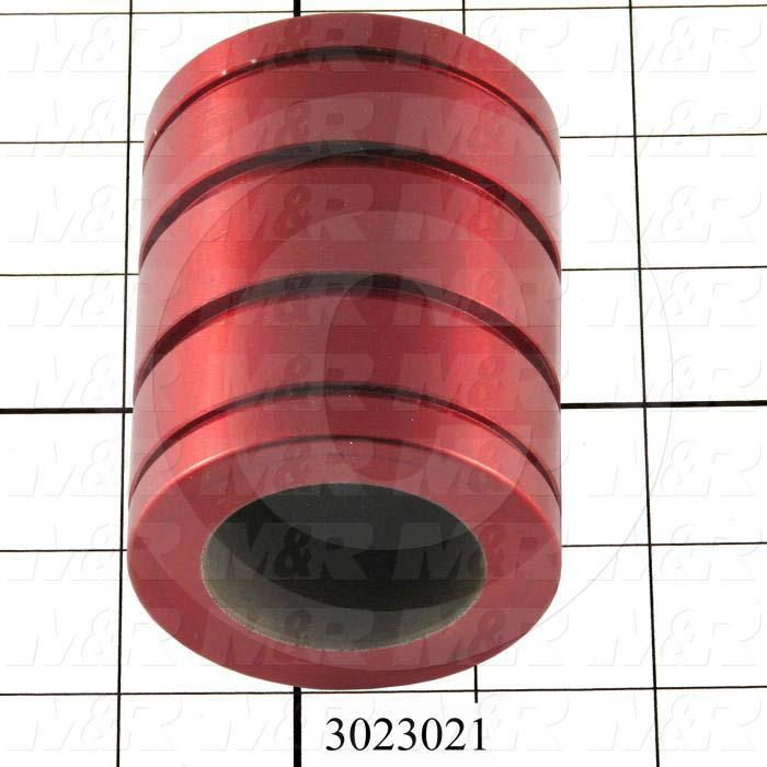"Shaft Guide, Plane Bearing Closed, Aluminum Anodized Material, 1 1/2"" Shaft Dia., 2 3/8"" Bearing OD, 3"" Bearing Length"