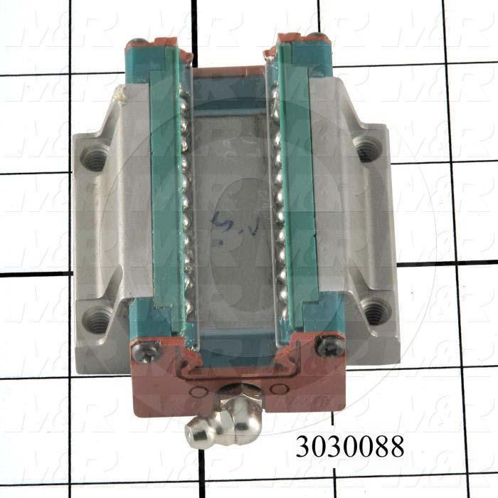 Shaft Guide, Slide Block, Corrosion-Resistant Steel Material, 63 mm Width of Block, 77.2 mm Length of Block, End Seals (Single)