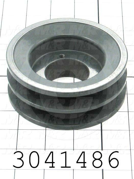 "Sheaves, Double Groove, 2BK47H Sheave Type, Q-D H Bushing Bore Type, 4.450"" Outside Diameter, Steel Material"