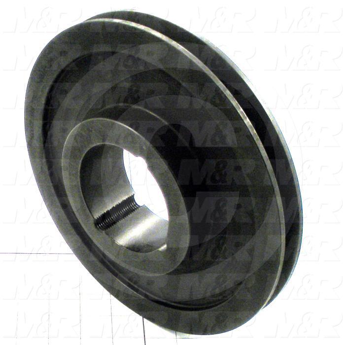 Sheaves, Single Groove, 1A190 Sheave Type, 2517 Bushing Bore Type, Steel Material