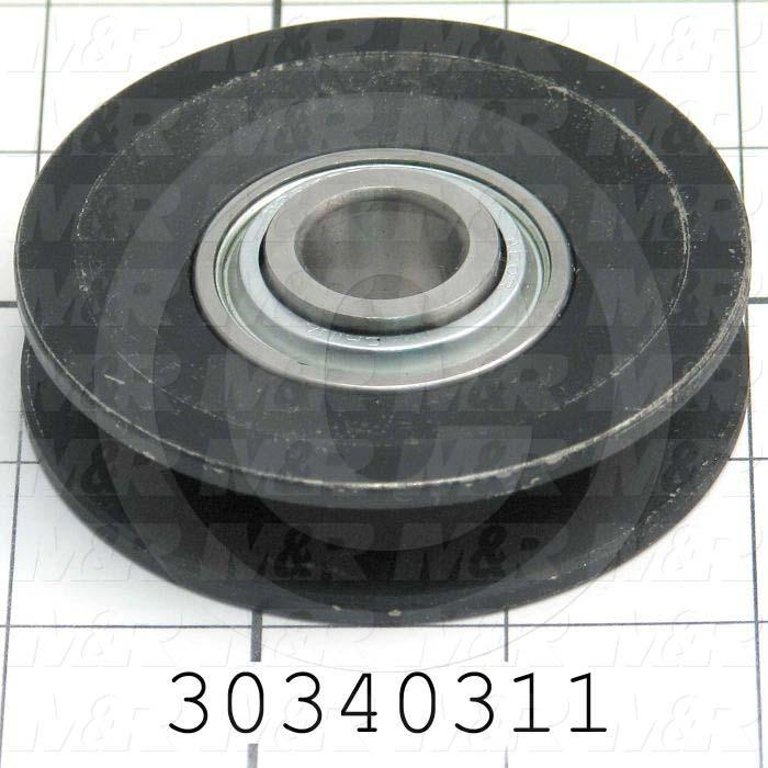 Sheaves, Single Groove, 1AU3B Sheave Type, Cylindrical Bore Type, 0.64 Bore Size, 3.000 Outside Diameter, Cast Iron Material - Details
