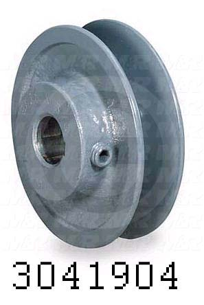 "Sheaves, Single Groove, BK50 Sheave Type, 0.63 in. Bore Size, 4.750"" Outside Diameter, Steel Material"