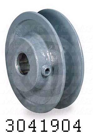 "Sheaves, Single Groove, BK50 Sheave Type, 0.63 in. Bore Size, 4.750"" Outside Diameter, Steel Material"