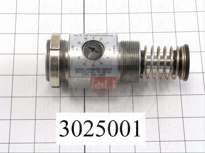 "Shock Absorbers, Adjustable Type, 5.44"" Length, 1 3/4-12 Thread Size, 1.00"" Stroke"