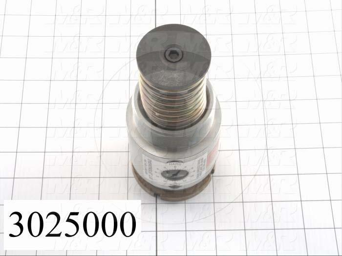 "Shock Absorbers, Adjustable Type, 6.88"" Length, 2 1/2-12 Thread Size, 1.00"" Stroke"