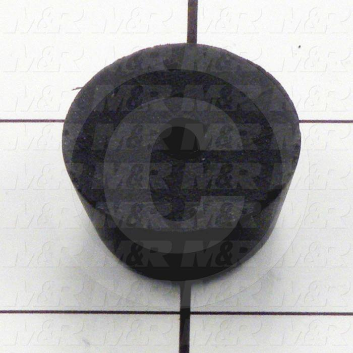 Shock Absorbers, Hard Rubber, Vibration-Damping Type, 1 in. Outside Diameter, 0.53 in. Length, Through Hole Note :, Black