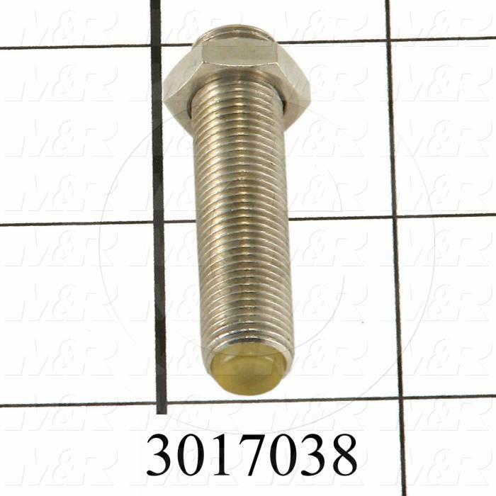 Shock Absorbers, Shock Absorber Bolt and Nut, Threaded  Bolt With Polyurethane Tip Type, 40 mm Length, M10 Thread Size