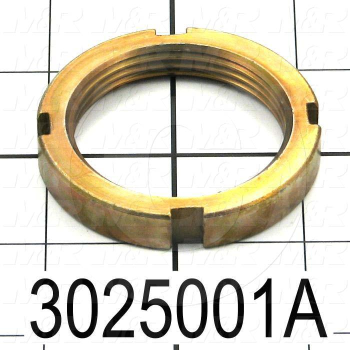 "Shock Absorbers, Shock Absorber Nut, 2.25 in. Outside Diameter, 0.375"" Thickness, 1 3/4-12 Thread Size, Use with Shock Absorber Part No. 3025001 Note :"
