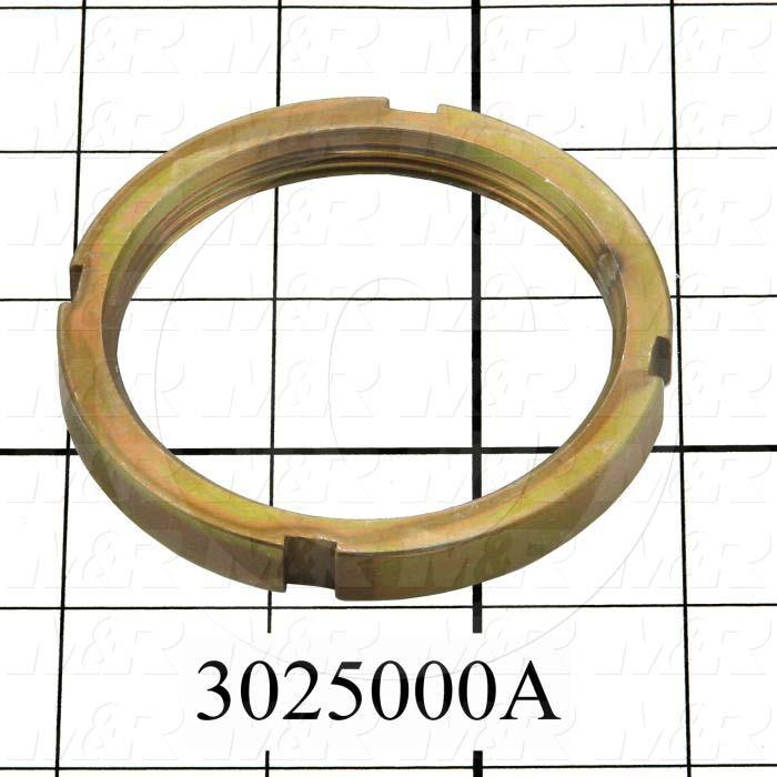 "Shock Absorbers, Shock Absorber Nut, 3.000"" Outside Diameter, 0.375"" Thickness, 2 1/2-12 Thread Size, Use with Shock Absorber Part No. 3025000 Note :"