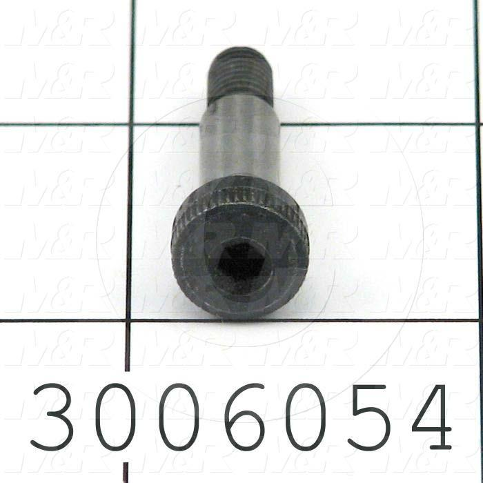 Shoulder Screws, Socket Head, Alloy Steel, Grade Class 12.9, Shoulder Dia. 6 mm, Shoulder Length 16 mm
