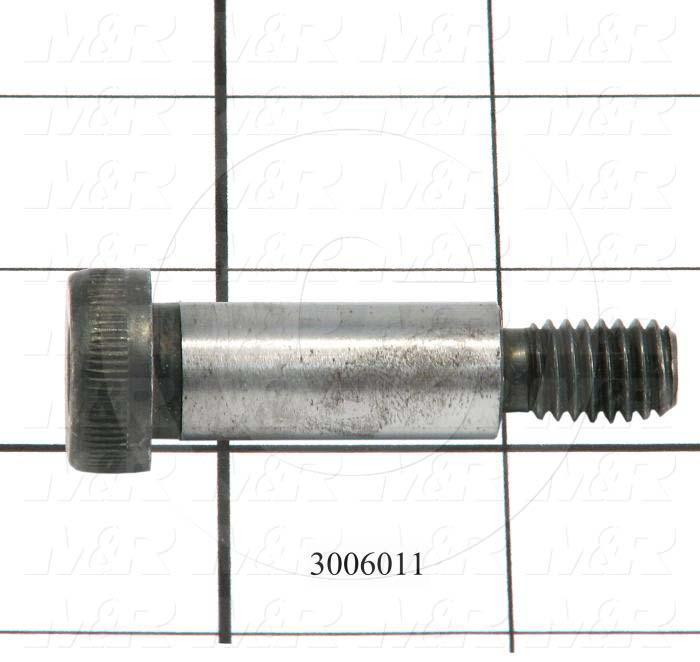 "Shoulder Screws, Socket Head, Steel, Shoulder Dia. 1/2"", Shoulder Length 1 1/4"""