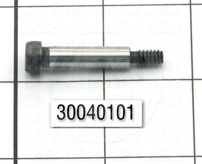"Shoulder Screws, Socket Head, Steel, Shoulder Dia. 1/4"", Shoulder Length 1"""