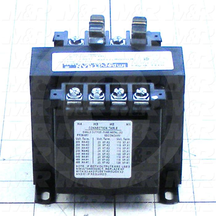 Single Phase Transformer, 100VA, 200-480V Primary Voltage, 23/110,24/115,25/120V Secondary Voltage