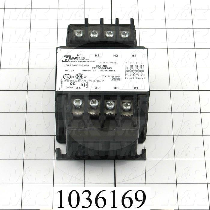 Single Phase Transformer, 100VA, 380/415VAC Primary Voltage, 110/220V Secondary Voltage, 50/60Hz