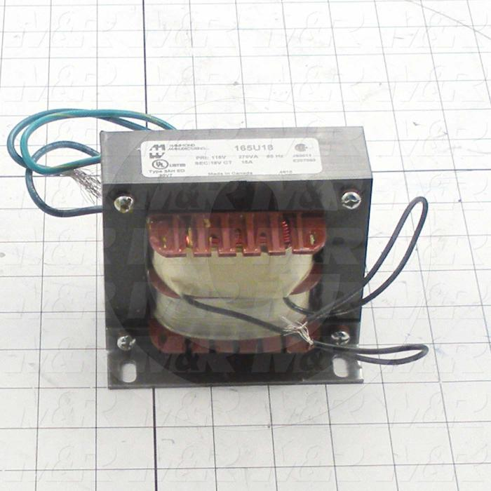 Single Phase Transformer, 270VA, 115V Primary Voltage, 18V Secondary Voltage