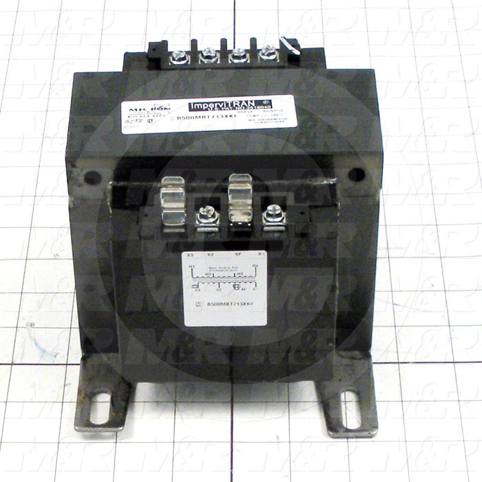 Single Phase Transformer, 500VA, 208/230/460V Primary Voltage, 115V Secondary Voltage