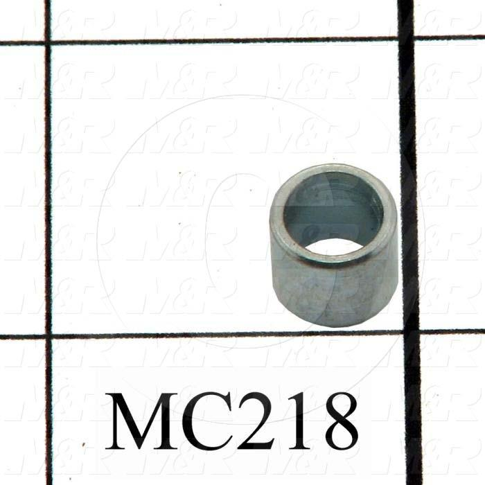 "Sleeve, 0.350"" Outside Diameter, 0.250"" Inside Diameter, 0.310"" Overall Length, Steel Material, Zinc Finish"