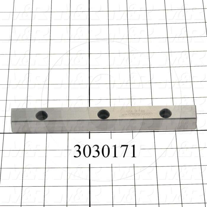 Slide (Rail) Guide, Rail, Steel, 15 mm Width of Rail, 150 mm Length of Rail