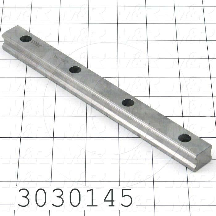 Slide (Rail) Guide, Rail, Steel, 20 mm Width of Rail, 220 mm Length of Rail