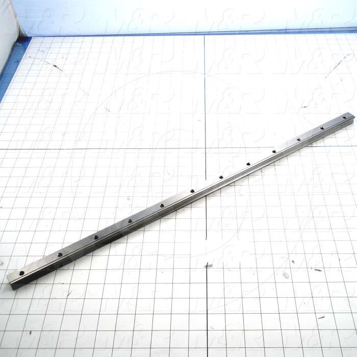 Slide (Rail) Guide, Rail, Steel, 20 mm Width of Rail, 700 mm Length of Rail