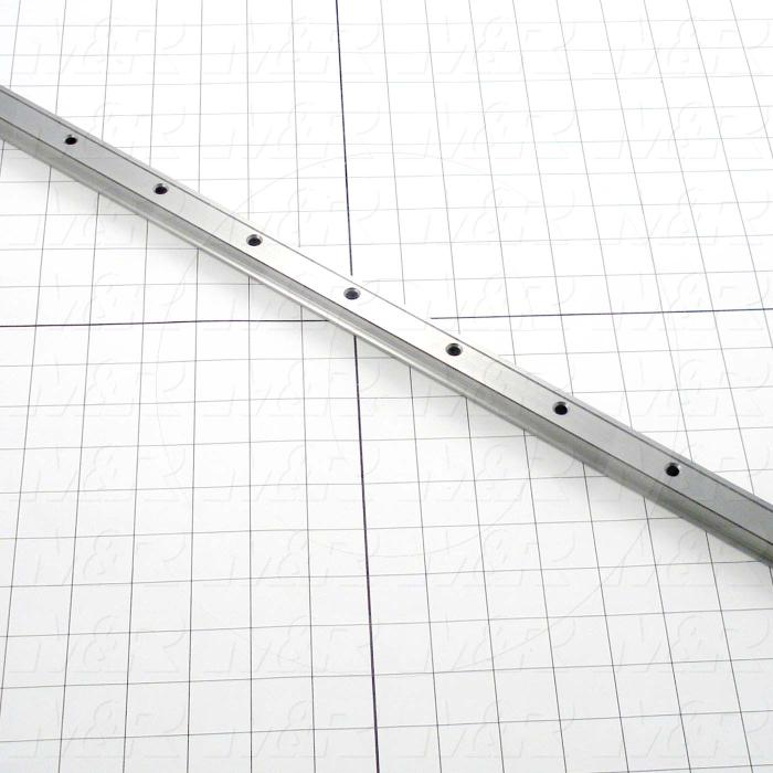 Slide (Rail) Guide, Rail, Steel, 20 mm Width of Rail, 820 mm Length of Rail