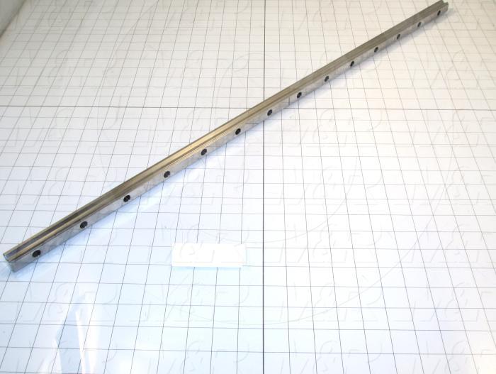 Slide (Rail) Guide, Rail, Steel, 20 mm Width of Rail, 838 mm Length of Rail