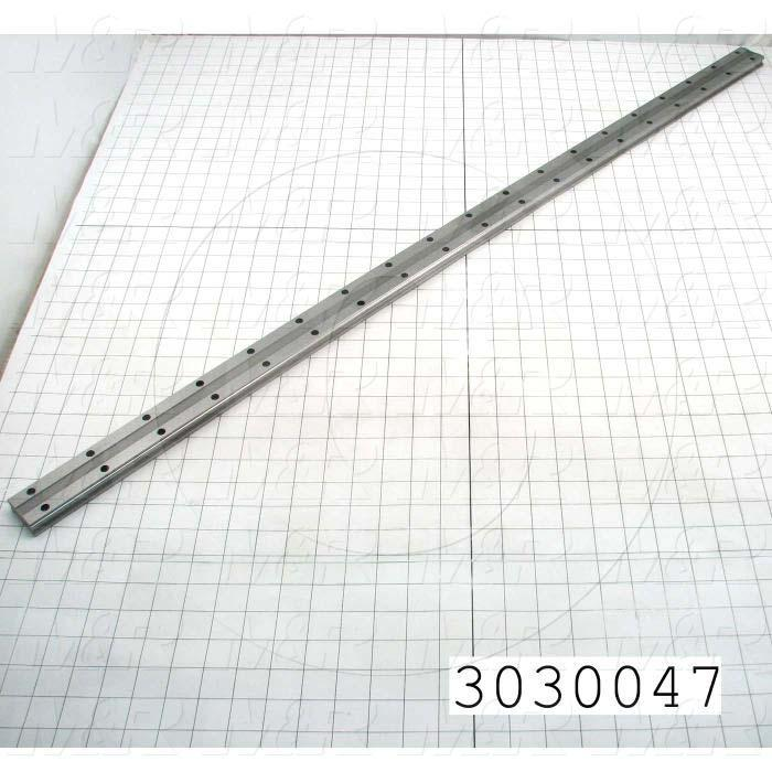 Slide (Rail) Guide, Rail, Steel, 42 mm Width of Rail, 1120 mm Length of Rail