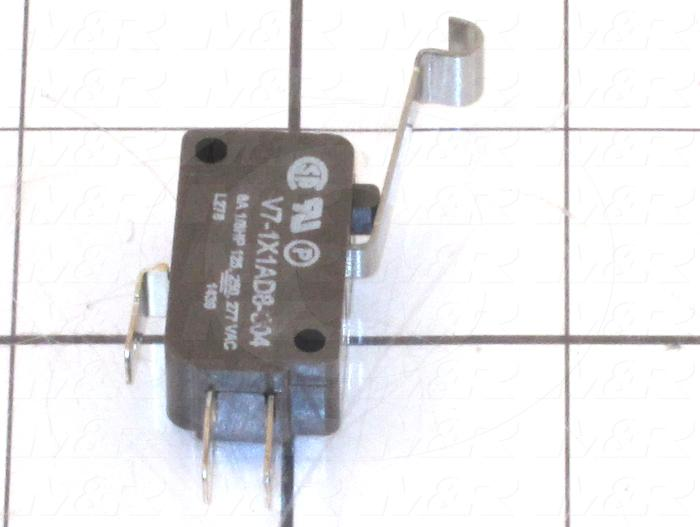 Snap Action Switch, Miniature, SPDT, 277V, 6A, Quick Connection Terminal, Roller Lever