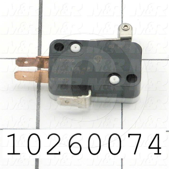 Snap Action Switch, SPDT, 125V, 15A, Quick Connection Terminal