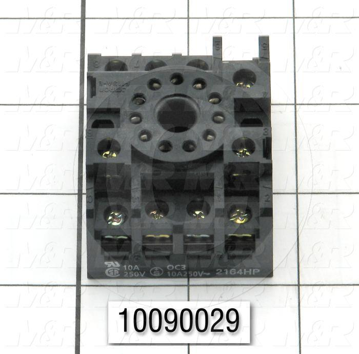 Socket for Relay, 11 Pins, Use For MAXI-AMP