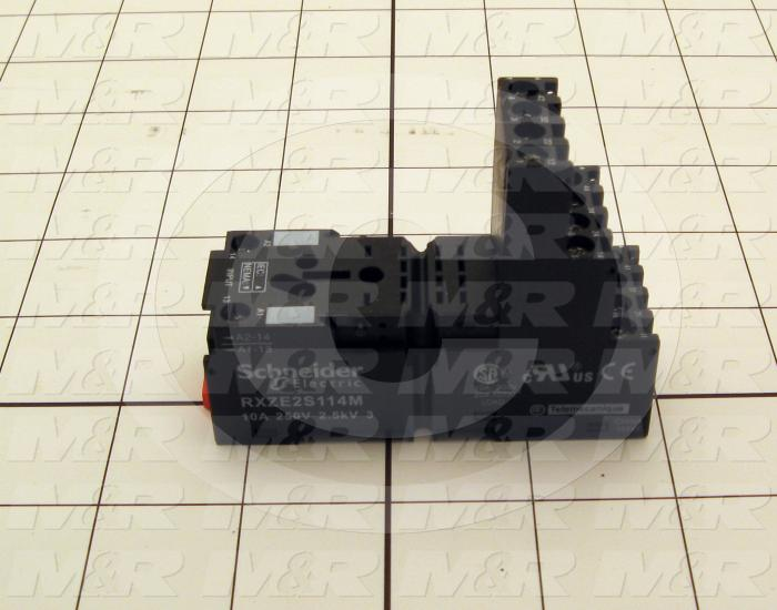 Socket for Relay, 4 Poles, DIN Rail, Isolated Coil, Use For RXM4 Relays