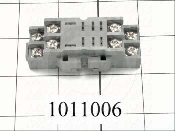 Socket for Relay, 8 Pins, DIN Rail, Use For RH2B Relays - Details