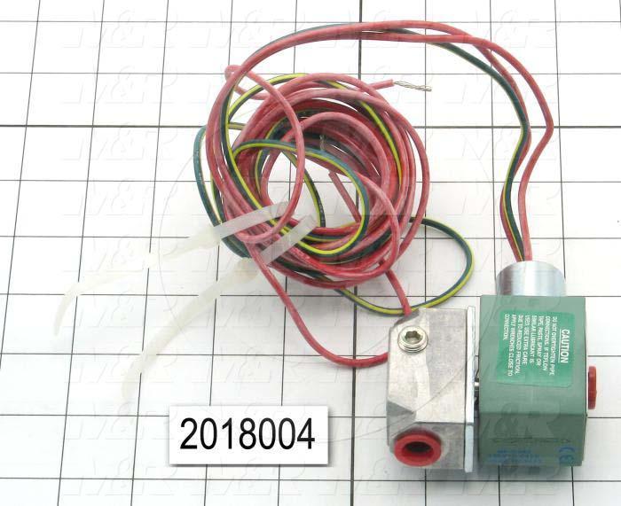 """Solenoid Valve, Thread Size 1/4"""" NPT, Voltage 110V 1PH, Max. Pressure 125 Psi, Material Aluminum"""