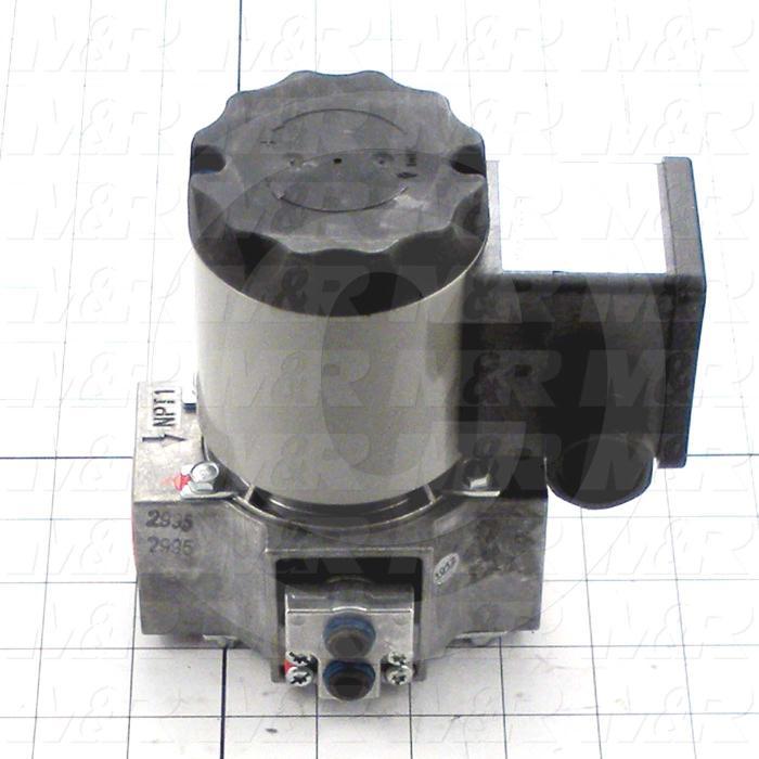 """Solenoid Valve, Thread Size 1"""" NPT, Voltage 110V 1PH, Max. Pressure 15 Psi, Material Aluminum"""