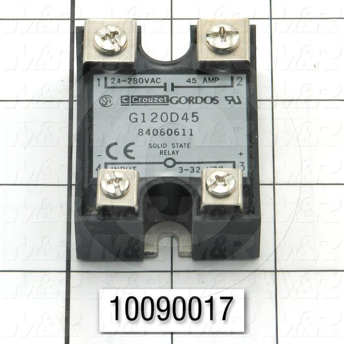 Solid State Relay, 1 Pole, 3-32VDC Input, 24-280VAC Output, 45A