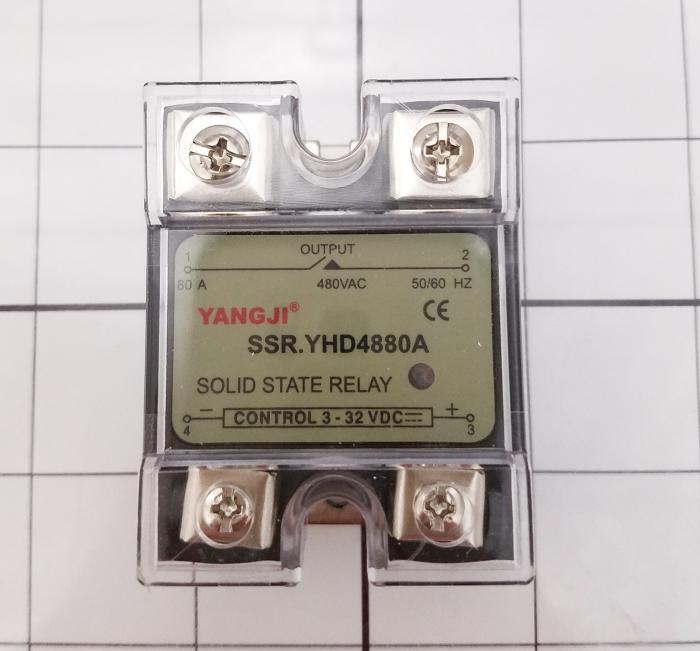 Solid State Relay, 1 Pole, 3-32VDC Input, 480VAC Output, 80A