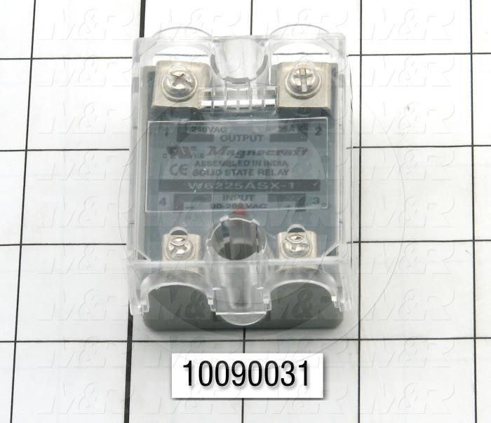 Solid State Relay, 24-280VAC Input, 40-280VAC Output, 25A