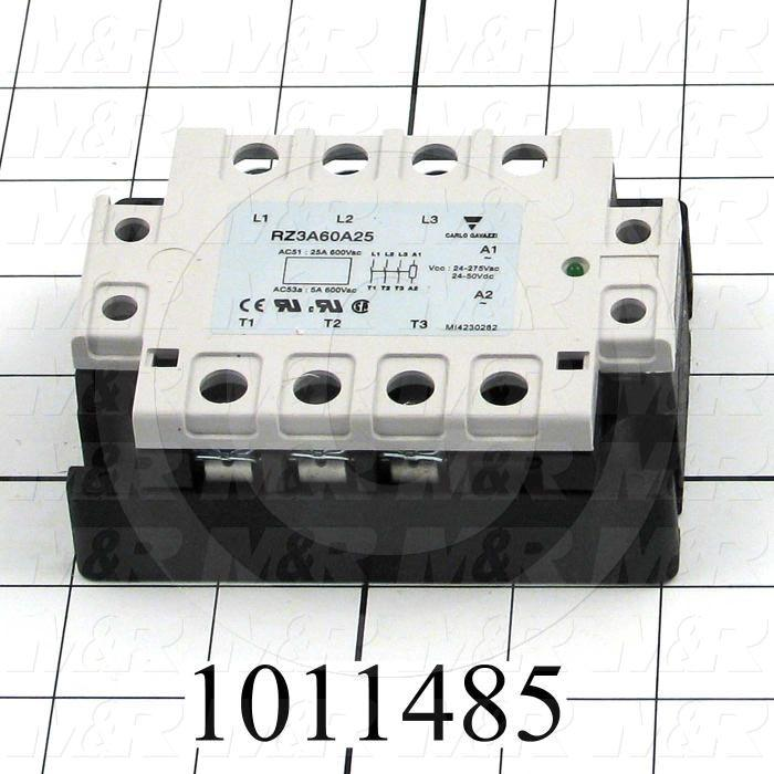 Solid State Relay, 3 Pole, 20-265VAC Input, 25A, 480VAC