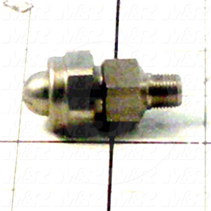 "Spraying Systems, Unijet Blow-Off Nozzle, Flat Pattern, Stainless Steel Material, 1/8"" NPT Liquid Inlet"