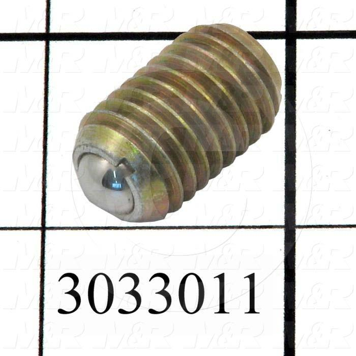 "Spring Plungers, Round Nose, 5/8-11 Thread Size, 0.984"" Thread Length"