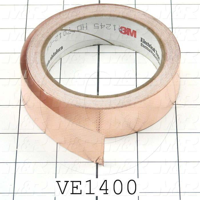 Tape, Type EMI/RFI Foil Shielding, Copper Foil Material, 1.00 in. Width, Embossed Finish Notes