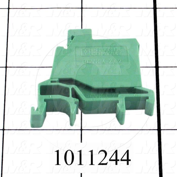 Terminal Block, 1 Pole, 30-10AWG, Green, For Power