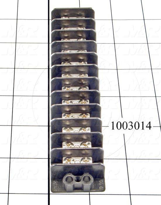 Terminal Block, 12 Poles, 14AWG