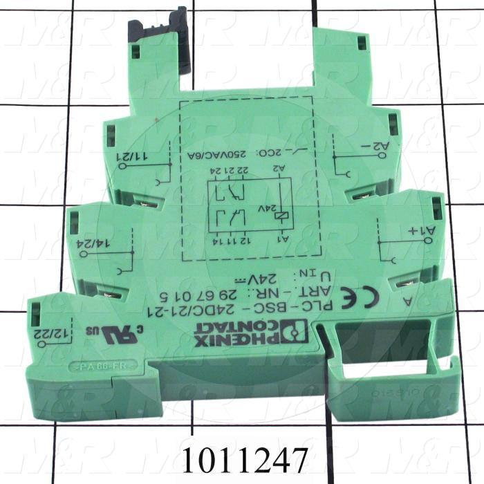 Terminal Block Relay, 2 Poles, Normally Open, 250VAC, 8A