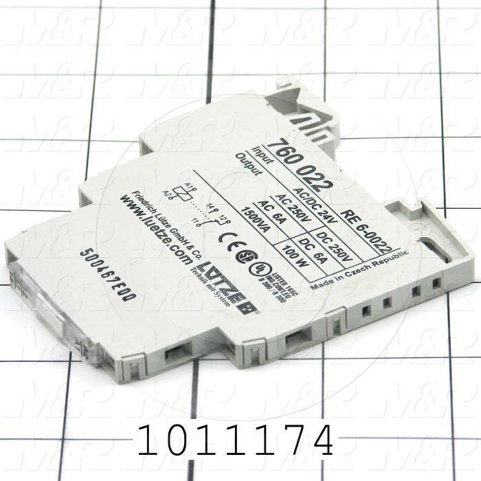 Terminal Block Relay, 24V AC/DC, 250VAC, 6A
