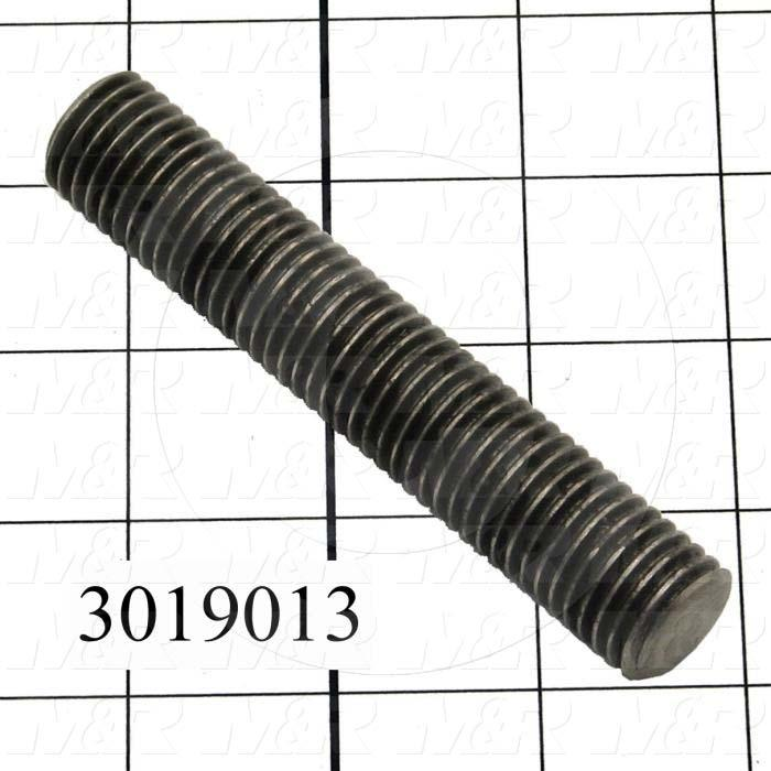 Threaded Rod/Stud, Threaded Rod, 3/4-10, 12' Overall Length, Steel Material, Note : Hardened